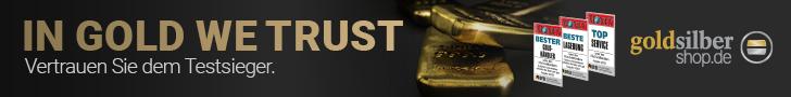 GoldSilberShop - mehrfach ausgezeichneter Edelmetallhändler
