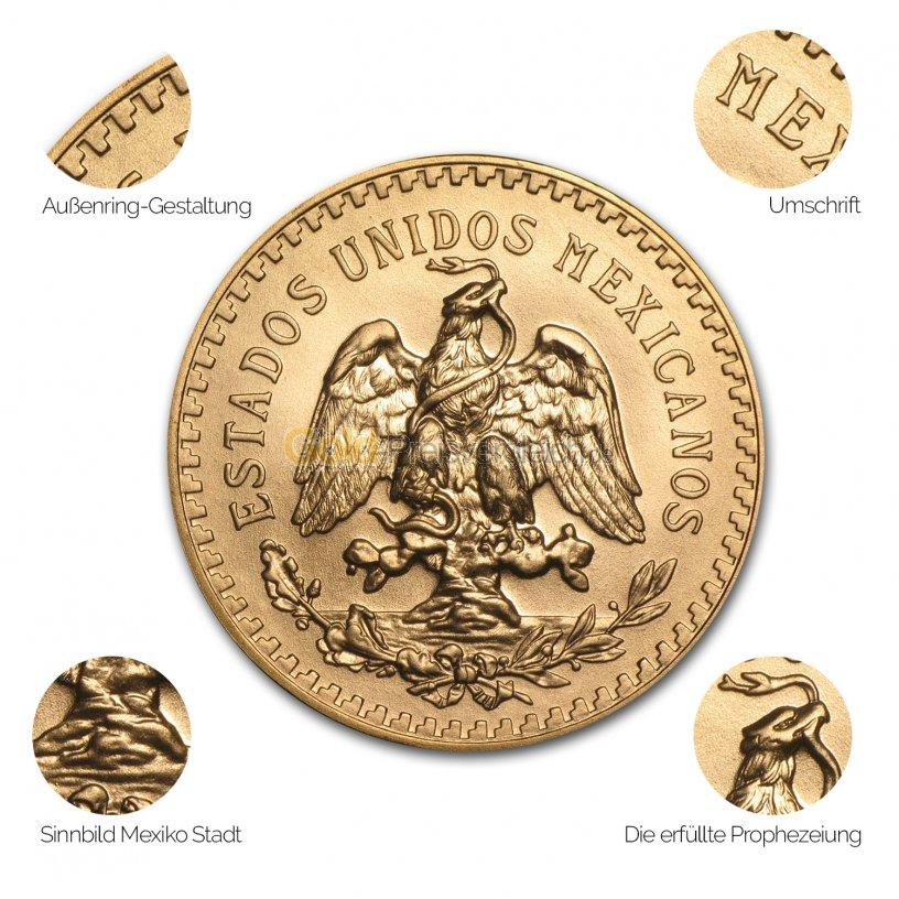 Goldmünze Centenario - Details des Avers