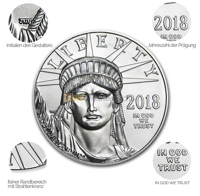 Platinmünze American Platinum Eagle - Details des Revers