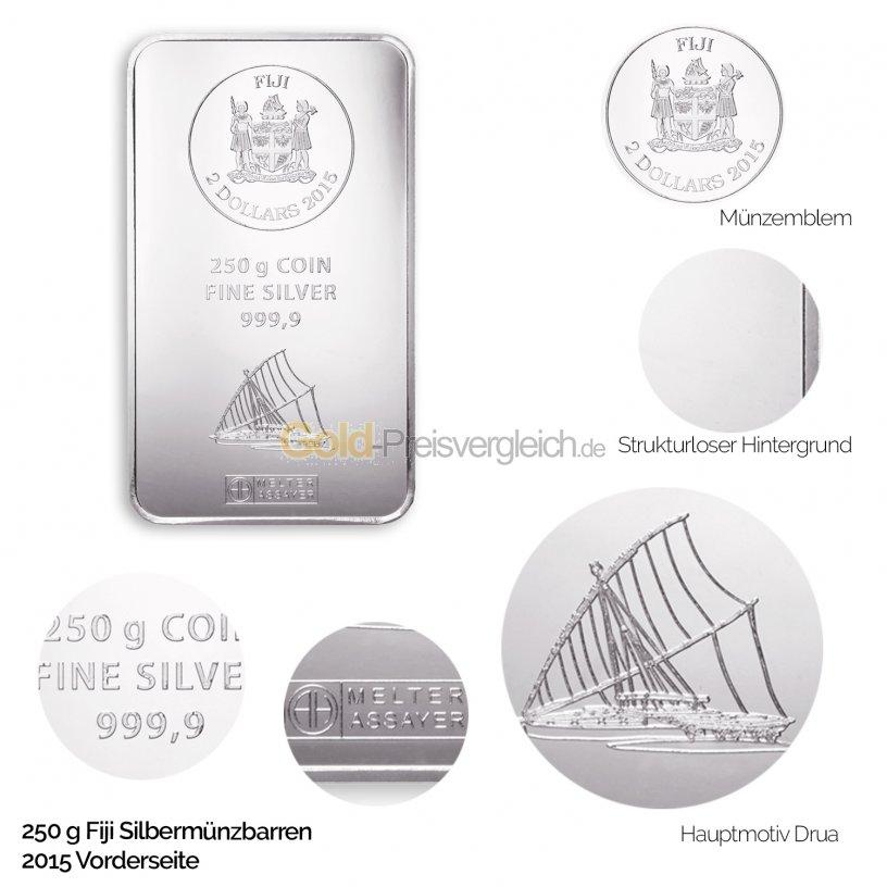 Fiji Silbermünzbarren - Vorderseite