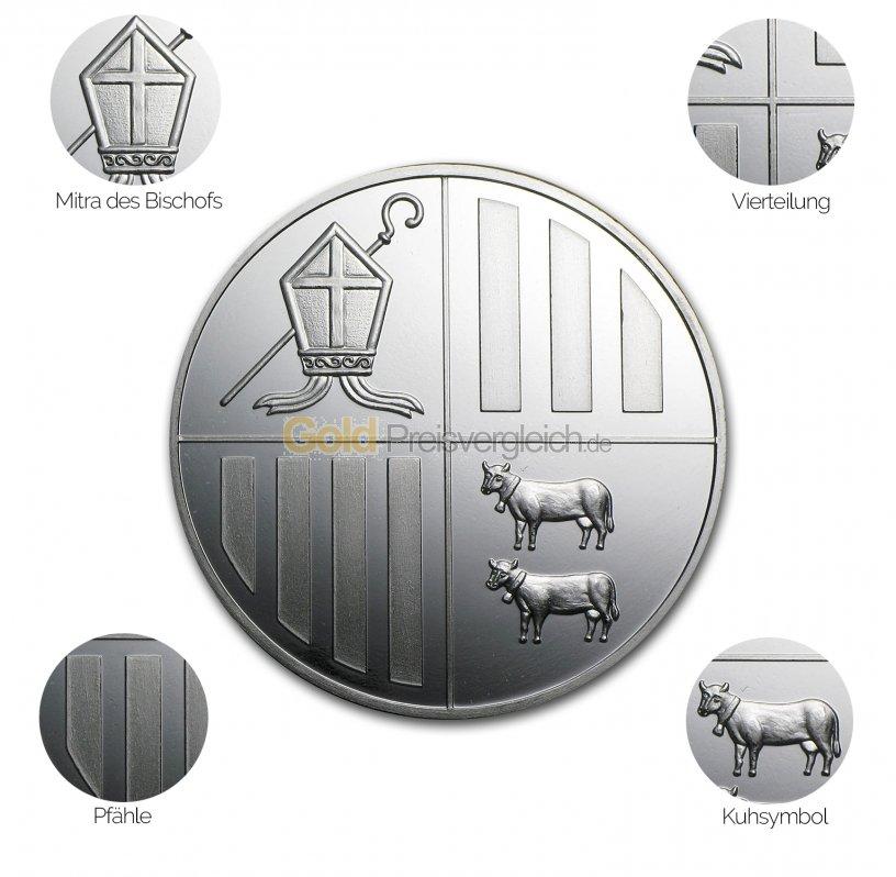 Silbermünze Andorra Eagle - Details des Avers