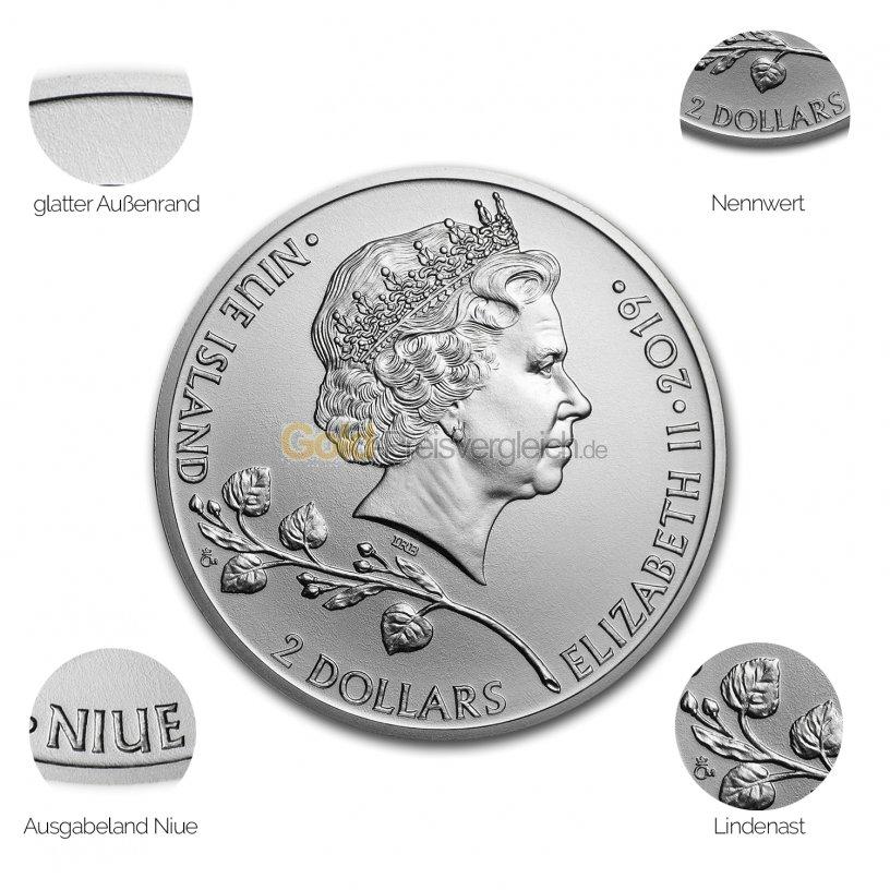 Silbermünze Czech Lion - Details des Avers