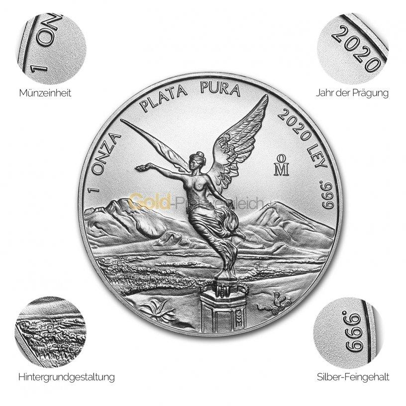 Silbermünze Libertad - Details des Revers