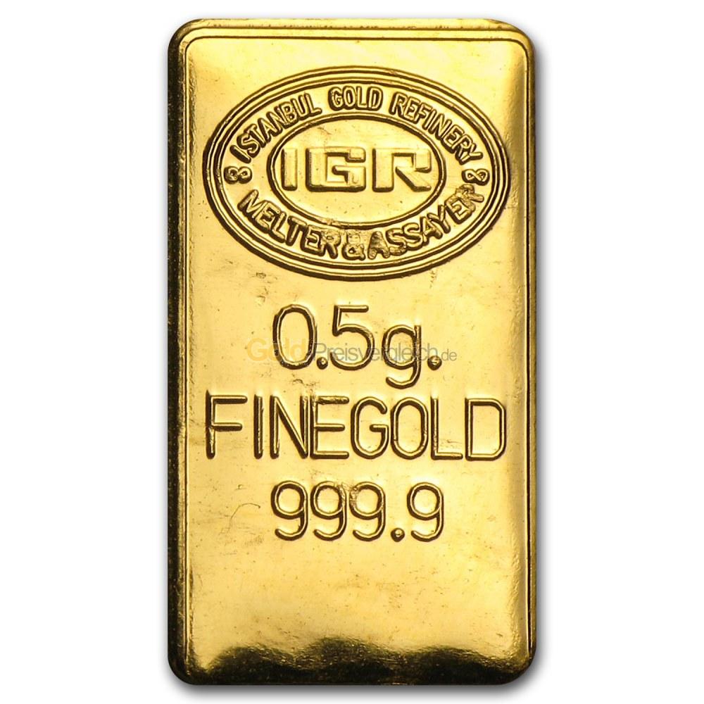 0 5 Gramm Goldbarren Preisvergleich 0 5 G Gold Kaufen