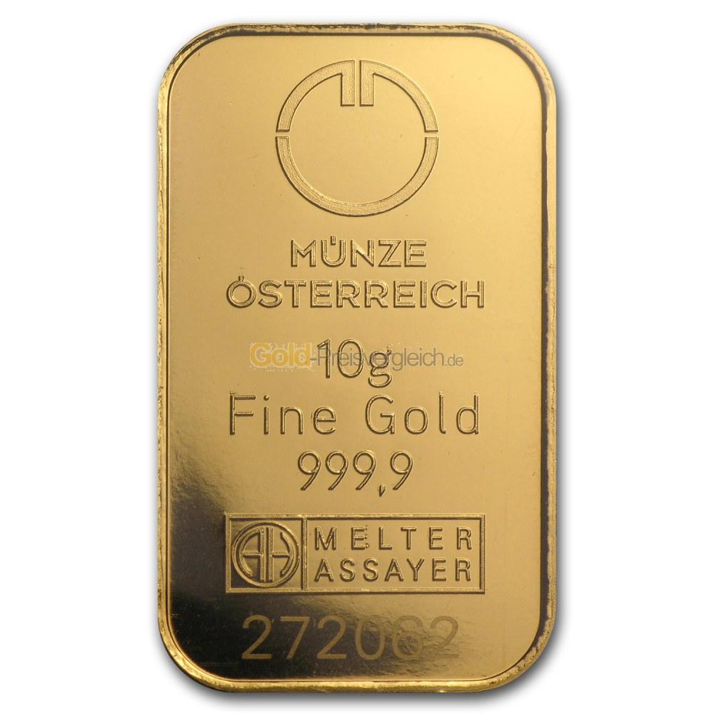 Preisvergleich 10 Gramm Goldbarren Aktueller An Und Verkaufspreis Für 10g Goldbarren
