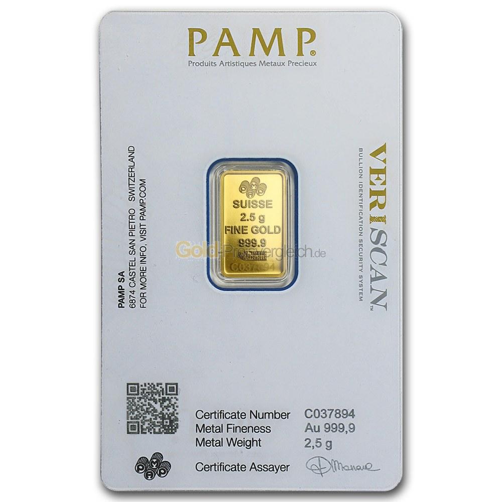 goldpreis 2.5 gramm