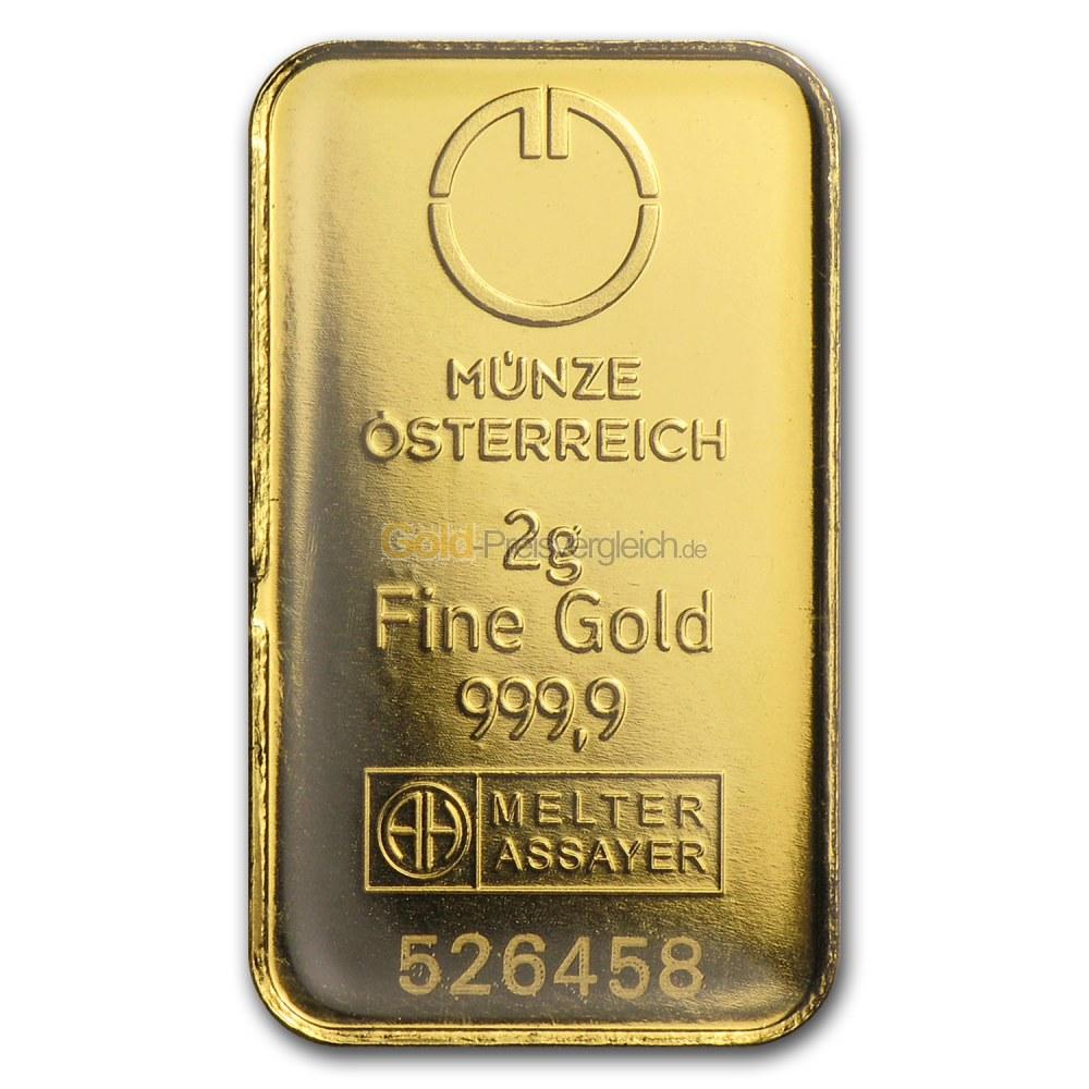 Goldbarren Preisvergleich 2 Gramm Gold Kaufen