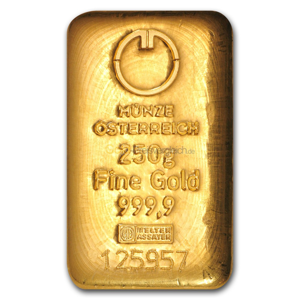 goldbarren preisvergleich 250 gramm gold kaufen. Black Bedroom Furniture Sets. Home Design Ideas
