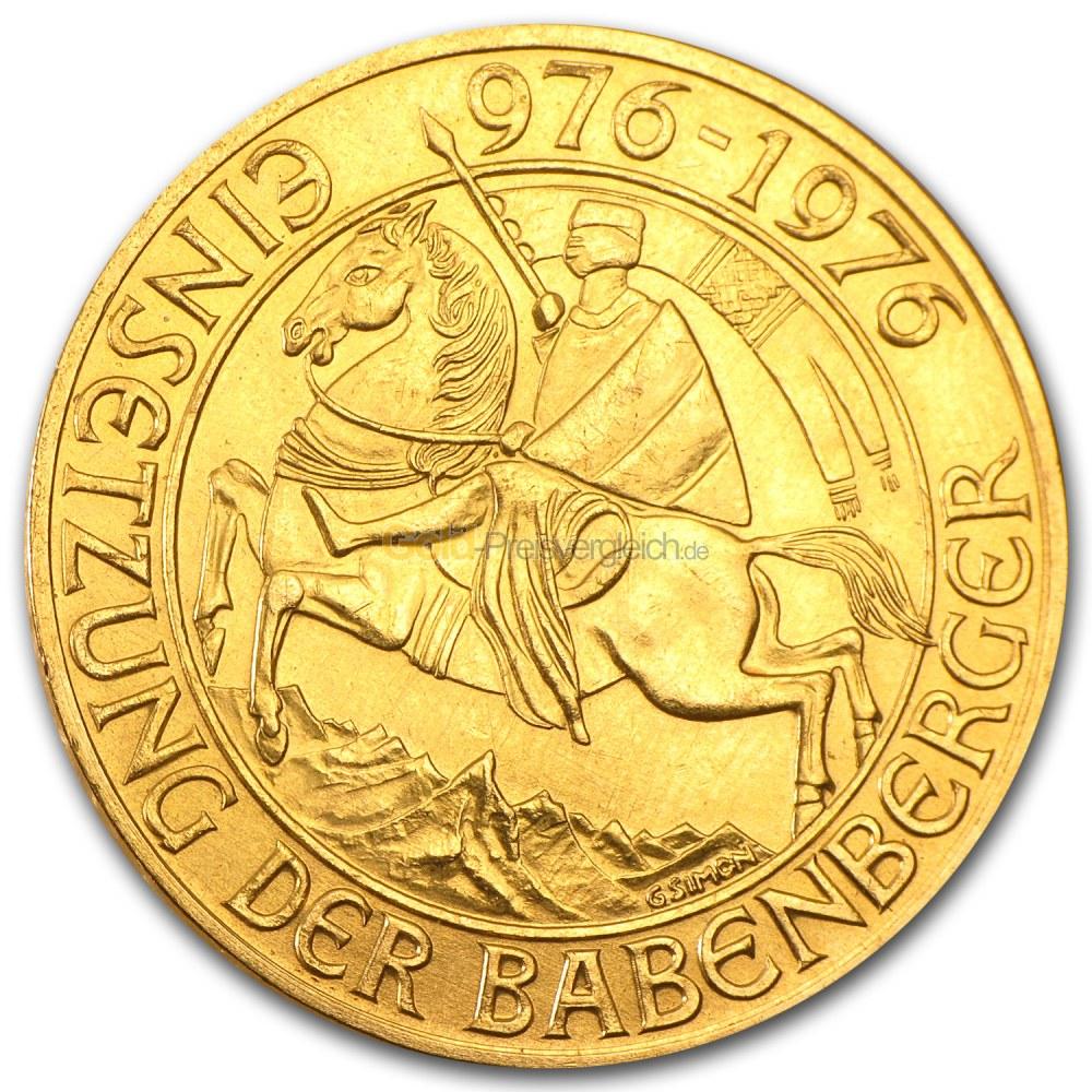 Babenberger 1000 Schilling Preisvergleich Gold Günstig Kaufen