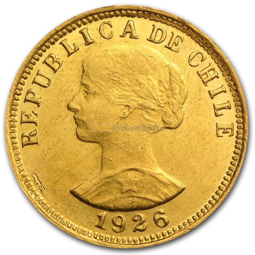 Chile Peso Gold Preisvergleich Goldmünzen Günstig Kaufen