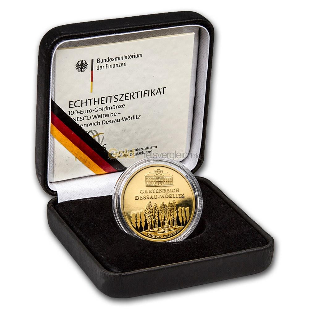 100 Euro Goldmünzen Deutschland Goldeuro Brd Preisvergleich