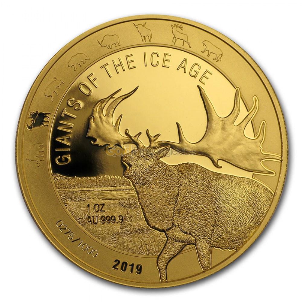 Goldmünze Giants of the Ice Age - Details des Revers