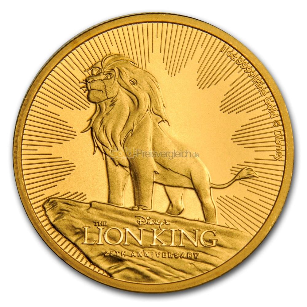 lion king goldm nze preisvergleich goldm nzen g nstig kaufen. Black Bedroom Furniture Sets. Home Design Ideas