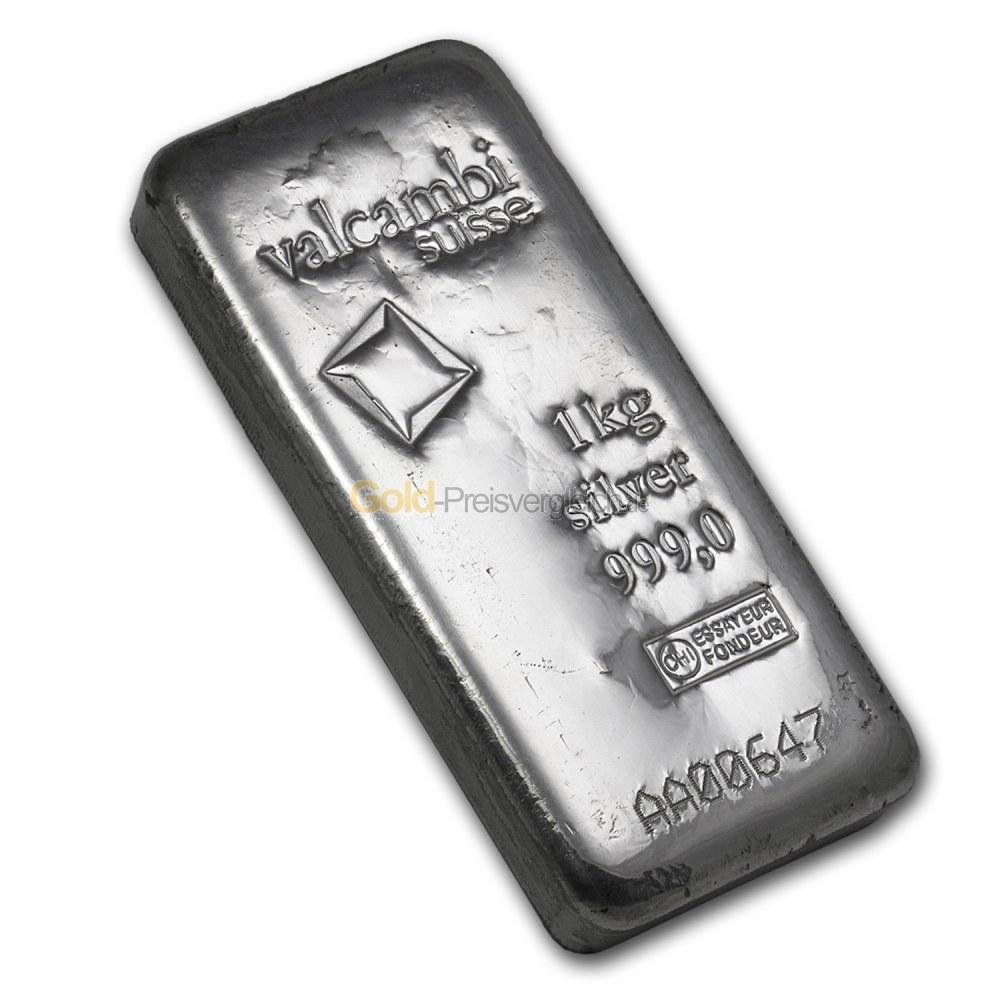 Silberbarren Preisvergleich 1 Kilogramm Silber Kaufen 1