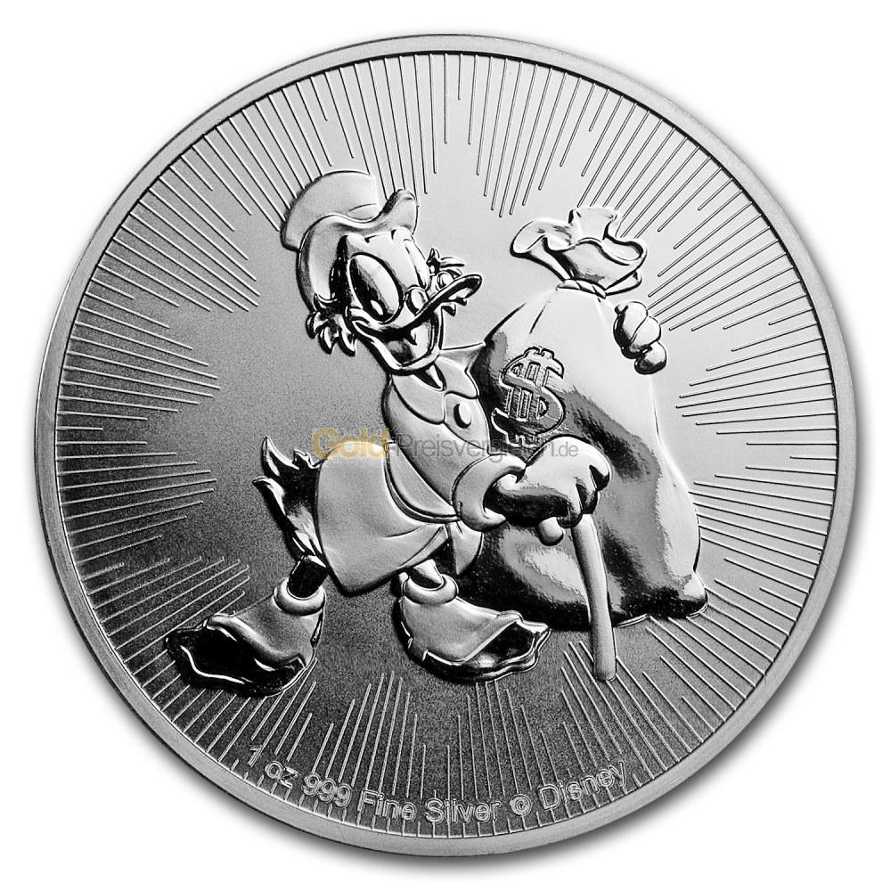 Disney Dagobert Duck Silbermünze Preisvergleich Silbermünzen