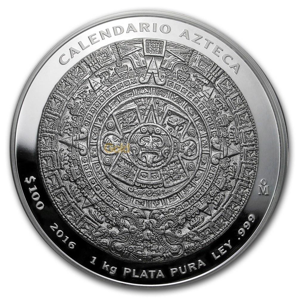 1 kg silbermünze aztekenkalender