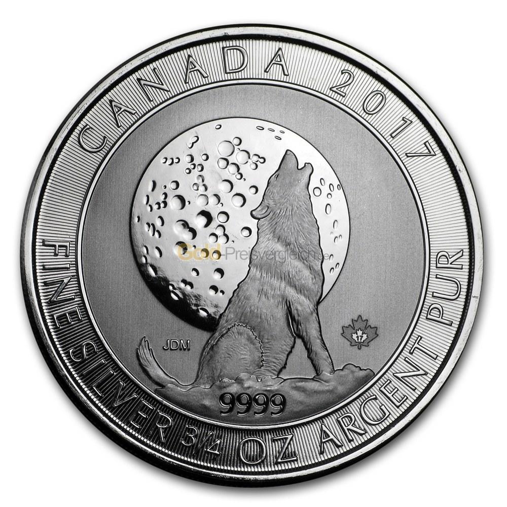 Kaufen Sie Silbermünzen stets zu einem günstigen Preis. Vergleichen Sie jetzt sorgfältig für Wildlife Kanada in Silber.