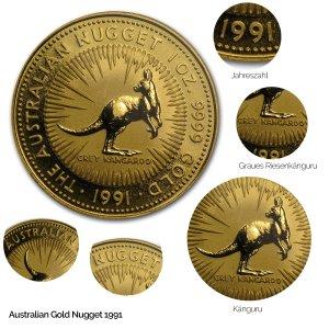 Australian Nugget Gold 1991