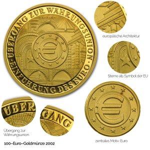 2002 Übergang zur Währungsunion – Einführung des Euro - Revers