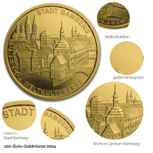 2004 UNESCO Welterbe – Bamberg - Revers