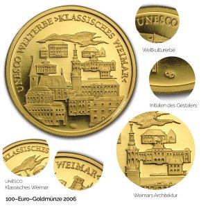 2006 UNESCO Welterbe – Klassisches Weimar - Revers
