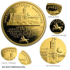 2011 UNESCO Welterbe – Wartburg - Revers