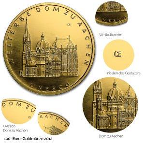2012 UNESCO Welterbe – Aachener Dom - Revers