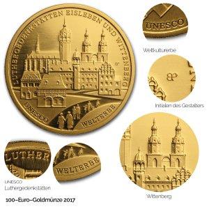 2017 UNESCO Welterbe – Luther-Gedenkstätten in Eisleben und Wittenberg - Revers