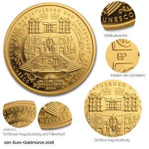 2018 UNESCO Welterbe - Schlösser Augustusburg und Falkenlust in Brühl - Revers