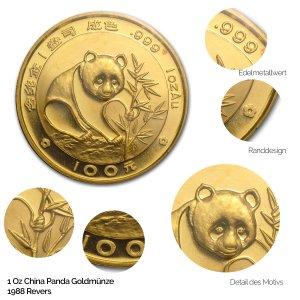 China Panda Gold 1988