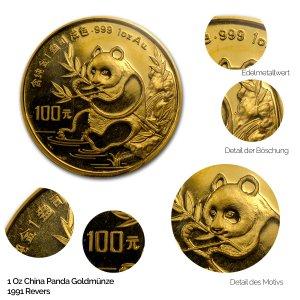 China Panda Gold 1991