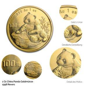 China Panda Gold 1998