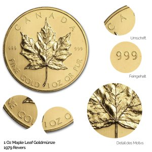 Maple Leaf Gold Revers 1979