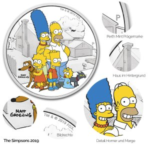 The Simpsons Silbermünze: 2019 Family