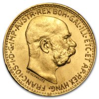 Nachprägung 10 Kronen Goldmünze Revers