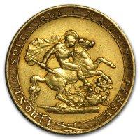 Gold Sovereign von 1817-1820 - Georg III - Revers