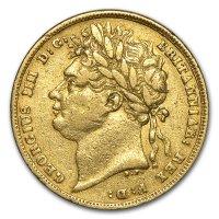 Gold Sovereign von 1822 - Avers
