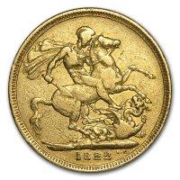 Gold Sovereign von 1822 - Revers