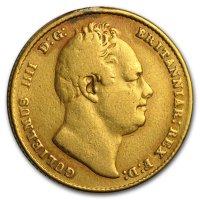 Gold Sovereign von 1832 - William IV - Avers