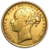 Avers von 1871: Queen Victoria