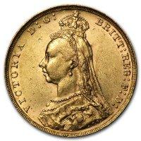 Avers von 1887: Königin Victoria