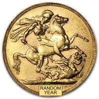 Gold Sovereign von 1887-1892 - Victoria - Revers