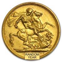 Gold Sovereign von 1908-1910 - Edward VII - Revers