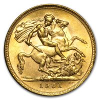 Gold Sovereign von 1925-1932 - Georg V - Revers
