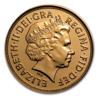Gold Sovereign von 2012 - Elisabeth II - Avers