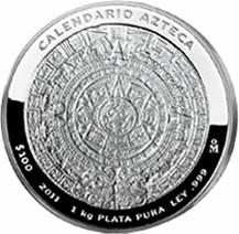 Silber Aztekenkalender