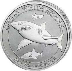 Silber Great White Shark