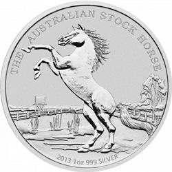 Silber Stock Horse