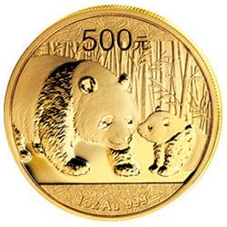 China Panda in Gold