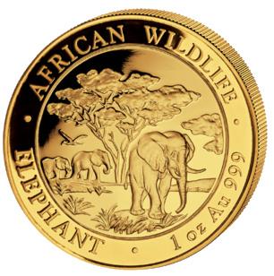 Gold Somalia Elefant